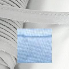 Кант атласный с вшитым шнуром Gamma 10мм ГОЛУБОЙ (на отрез)