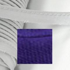 Кант атласный с вшитым шнуром Gamma 10мм СИНИЙ (на отрез)