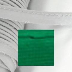 Кант атласный с вшитым шнуром Gamma 10мм ЗЕЛЕНЫЙ (на отрез)