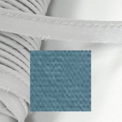 Кант атласный с вшитым шнуром Gamma 10мм ТЕМНО-СЕРЫЙ (на отрез)