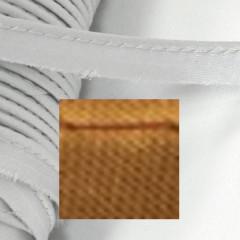 Кант атласный с вшитым шнуром Gamma 10мм СВЕТЛО-КОРИЧНЕВЫЙ (на отрез)