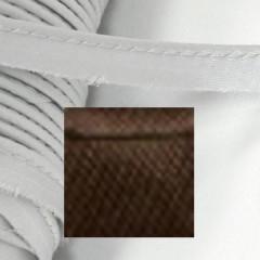 Кант атласный с вшитым шнуром Gamma 10мм КОРИЧНЕВЫЙ (на отрез)