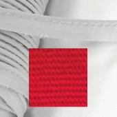 Кант атласный с вшитым шнуром Gamma 10мм КРАСНЫЙ (на отрез)