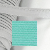 Кант атласный с вшитым шнуром Gamma 10мм СВЕТЛАЯ МОРСКАЯ ВОЛНА (на отрез)