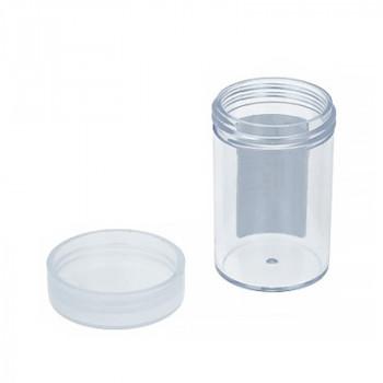 Баночка прозрачная пластик с завинчивающейся крышкой Gamma 4см