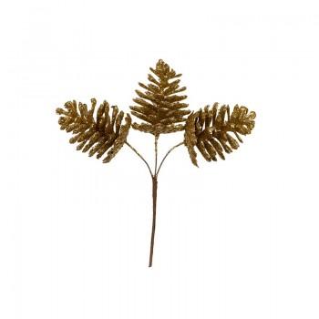 Декоративные элементы ШИШКИ под золото 40мм 3шт