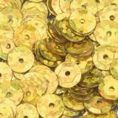 Пайетки круглые EFCO 6мм золотистые