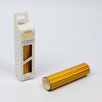 Фольга для термотрансфера Couture Creations GoPress and Foil радужный золотой