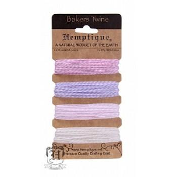 Набор шнуров из хлопка Hemptique BAKERS TWINE оттенки фламинго