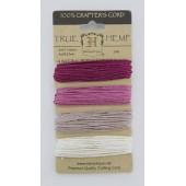 Набор шнуров из пеньки Hemptique TRUE HEMP розовые