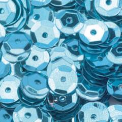 Пайетки круглые EFCO 6мм голубые