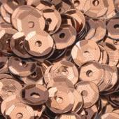 Пайетки круглые EFCO 6мм коричневые