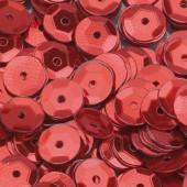 Пайетки круглые EFCO 6мм красные