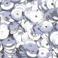 Пайетки круглые EFCO 6мм серебристые