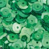 Пайетки круглые EFCO 6мм зеленые