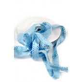 Кружевная лента хлопок цвет ГОЛУБОЙ 1,5см (на отрез)
