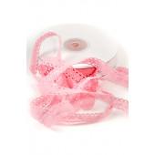 Кружевная лента хлопок цвет РОЗОВЫЙ 1,5см (на отрез)