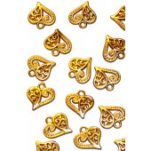 Металлическая подвеска СЕРДЕЧКО цвет золото