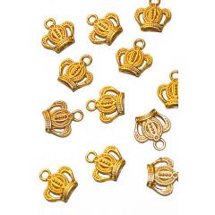Металлическая подвеска КОРОНА цвет золото