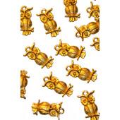 Металлическая подвеска СОВА цвет золото