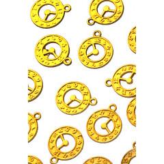 Металлическая подвеска ЧАСЫ цвет золото