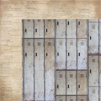 Лист бумаги для скрапбукинга Kaisercraft LOCKERS коллекция Documented 30х30см