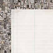 Лист бумаги для скрапбукинга Kaisercraft NOTEBOOK LEDGER коллекция Documented 30х30см