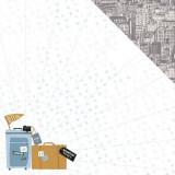 Лист бумаги для скрапбукинга Kaisercraft CITIES коллекция Let's Go 30х30см
