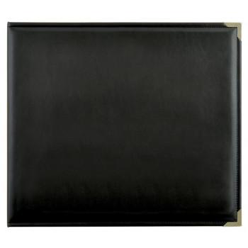 Альбом на кольцах с файлами Kaisercraft LEATHER D-RING ALBUM черный 30х30см