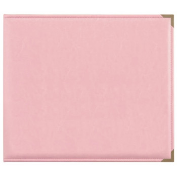 Альбом на кольцах с файлами Kaisercraft LEATHER D-RING ALBUM розовый 30х30см