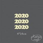 Чипборд Katrin craft НАДПИСЬ 2020 3шт