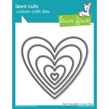 Набор ножей для вырубки Lawn Fawn HEART STACKABLES