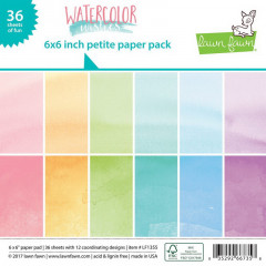 Набор бумаги для скрапбукинга Lawn Fawn WATERCOLOR WISHES 15х15см