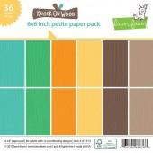Набор бумаги для скрапбукинга Lawn Fawn KNOCK ON WOOD 15х15см