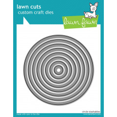 Набор ножей для вырубки Lawn Fawn CIRCLE STACKABLES