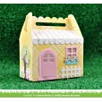 Набор ножей для вырубки Lawn Fawn SCALLOPED TREAT BOX SPRING HOUSE ADD-ON