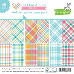 Набор бумаги для скрапбукинга Lawn Fawn PERFECTLY PLAID REMIX 15х15см