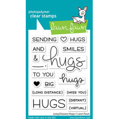 Набор штампов Lawn Fawn LONG DISTANCE HUGS
