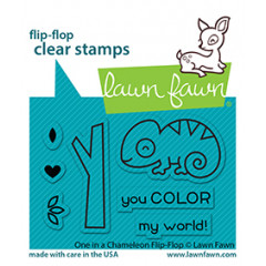 Набор штампов Lawn Fawn ONE IN A CHAMELEON FLIP-FLOP