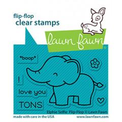 Набор штампов Lawn Fawn ELPHIE SELFIE FLIP-FLOP