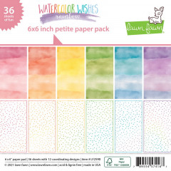 Набор бумаги для скрапбукинга Lawn Fawn WATERCOLOR WISHES RAINBOW 15х15см