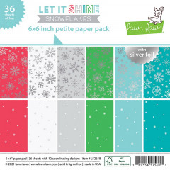 Набор бумаги для скрапбукинга Lawn Fawn LET IT SHINE SNOWFLAKES 15х15см с фольгированием