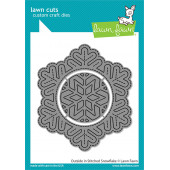 Набор ножей для вырубки Lawn Fawn OUTSIDE IN STITCHED SNOWFLAKE