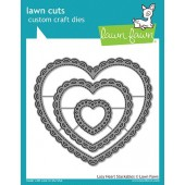 Набор ножей для вырубки Lawn Fawn LACY HEART STACKABLES