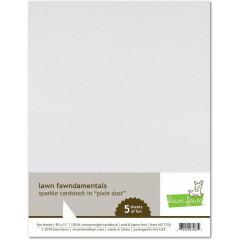 Набор бумаги с глиттером Lawn Fawn SPARKLE CARDSTOCK PIXIE DUST 21х27см