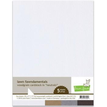 Набор бумаги с текстурой дерева Lawn Fawn WOODGRAIN CARDSTOCK NEUTRALS 21х27см