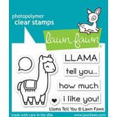 Набор штампов Lawn Fawn LLAMA TELL YOU