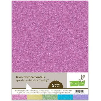 Набор бумаги с глиттером Lawn Fawn SPARKLE CARDSTOCK SPRING 21х27см