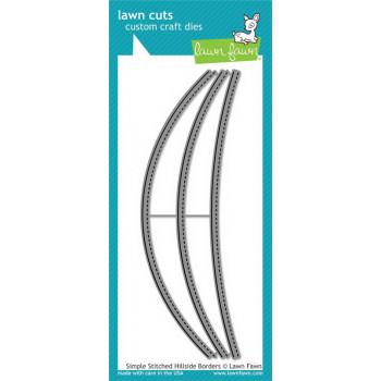 Набор ножей для вырубки Lawn Fawn SIMPLE STITCHED HILLSIDE BORDERS