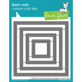 Набор ножей для вырубки Lawn Fawn OUTSIDE IN STITCHED SQUARE STACKABLES